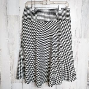 Cato Houndstooth A-Line Skirt Women's Size 6